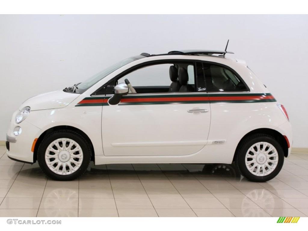Gucci Bianco White 2012 Fiat 500 Gucci Exterior Photo
