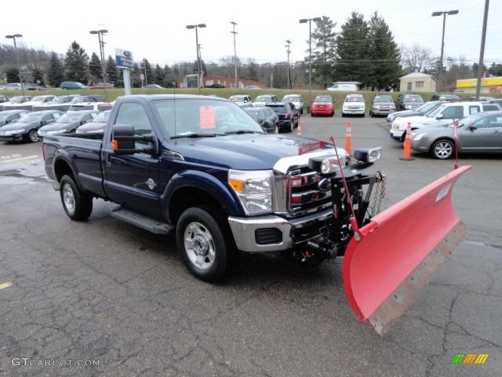 Plow Trucks For Sale >> Dark Blue Pearl Metallic 2011 Ford F250 Super Duty XLT Regular Cab 4x4 Plow Truck Exterior Photo ...
