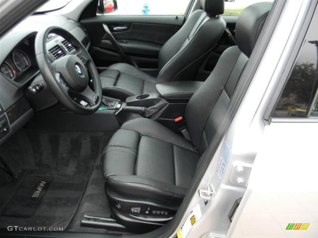 Black Interior 2007 Bmw X3 3 0si Photo 59555868