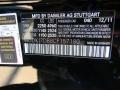 2012 E 550 Coupe Black Color Code 040