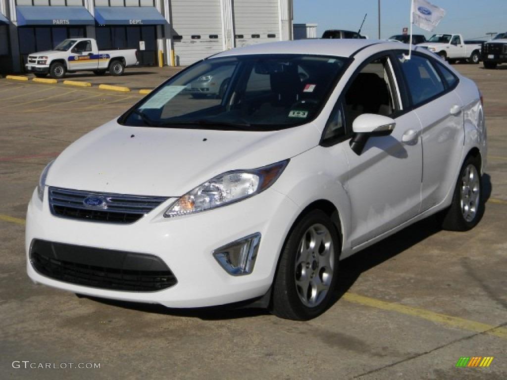 2011 Oxford White Ford Fiesta Sel Sedan 59528669 Photo 3