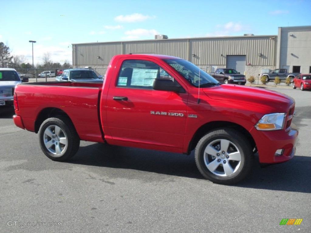 2012 Flame Red Dodge Ram 1500 Express Regular Cab 4x4 59529268