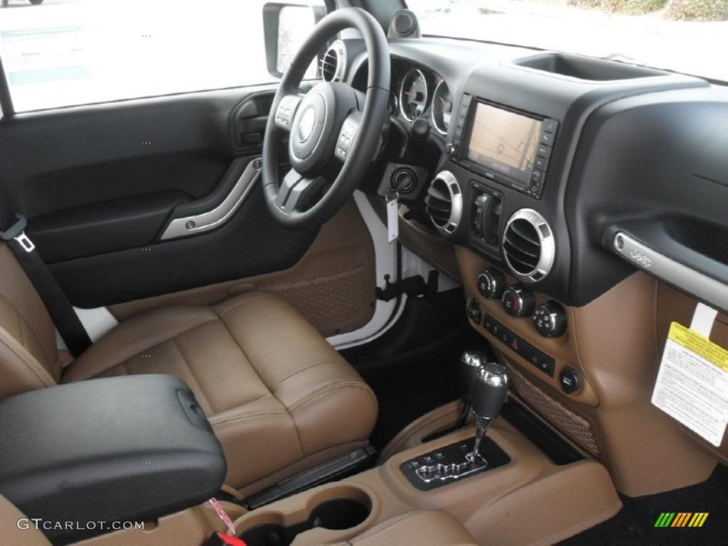 Black Dark Saddle Interior 2012 Jeep Wrangler Unlimited Sahara 4x4 Photo 59569968