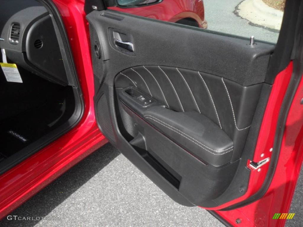 2012 dodge charger r t road and track black door panel photo 59570235