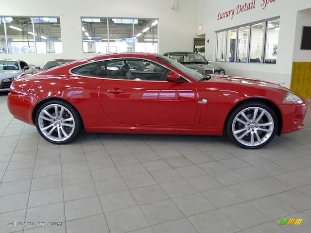 Jaguar xk coupe red - photo#2