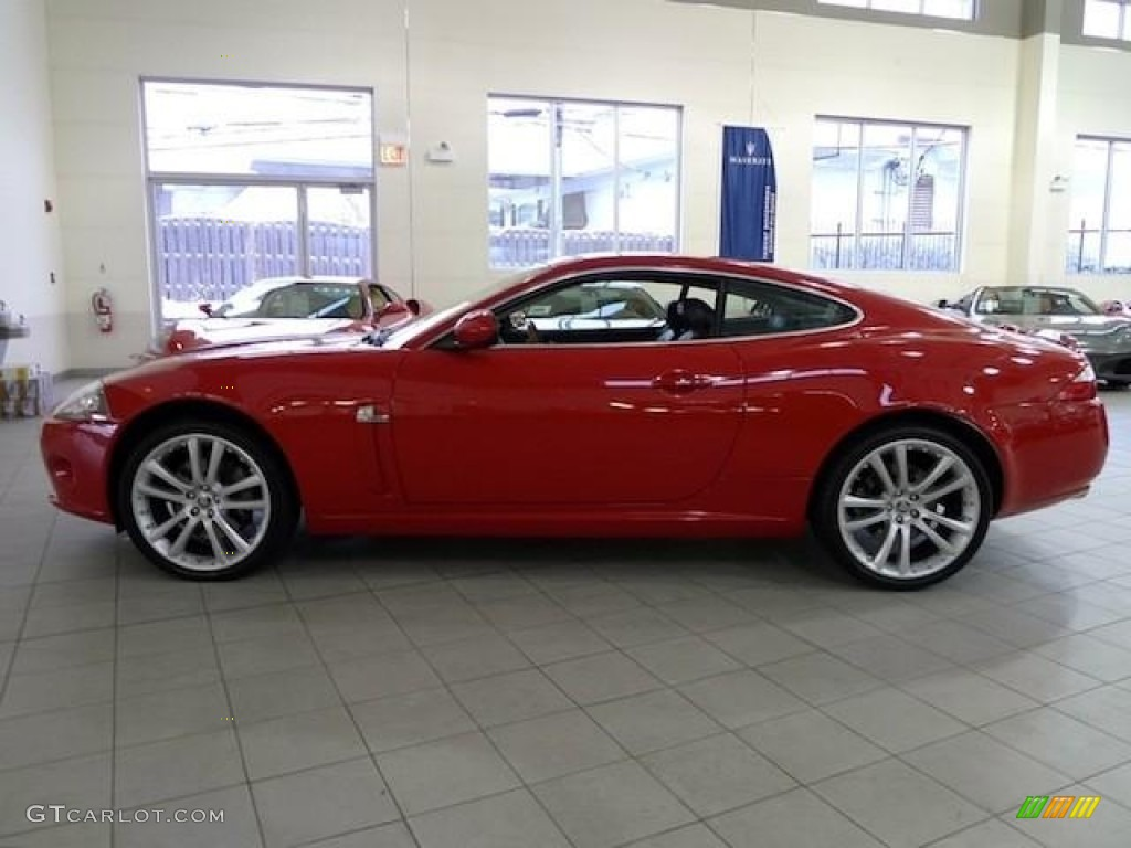 Jaguar xk coupe red - photo#1