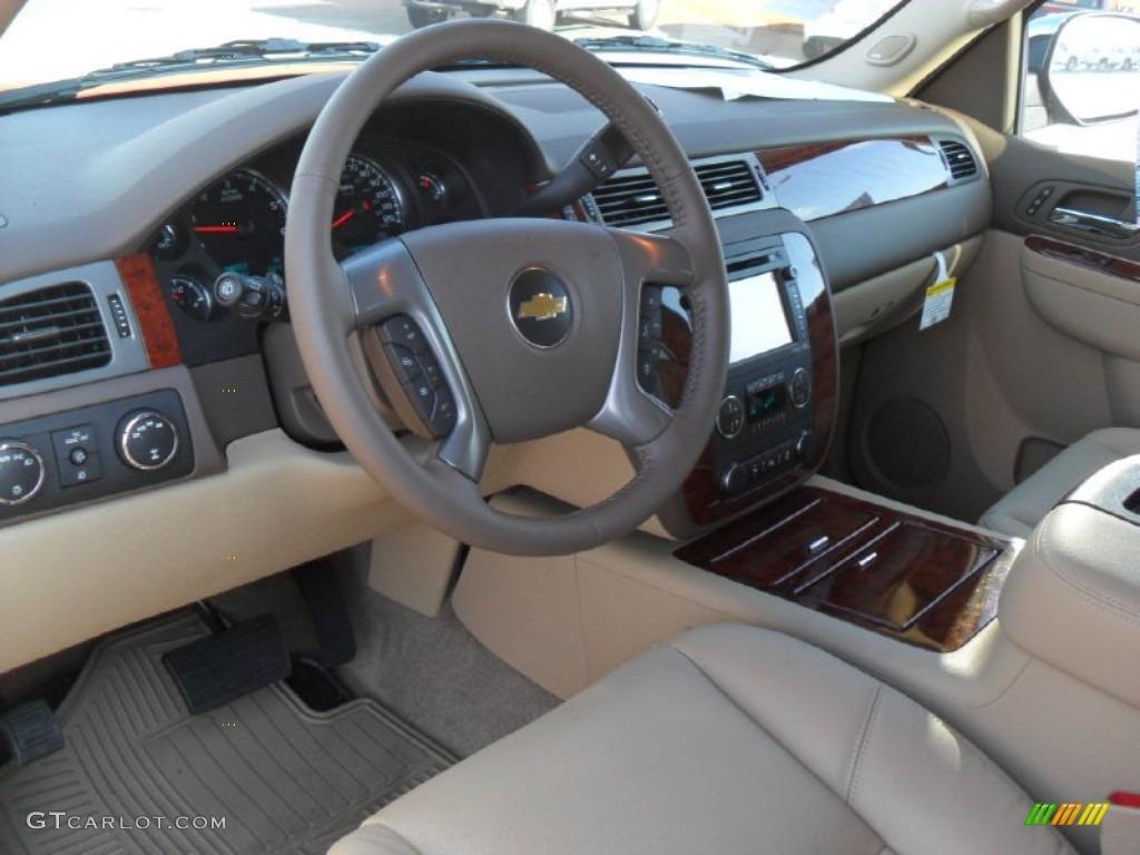 Light Cashmere Dark Cashmere Interior 2012 Chevrolet Tahoe Ltz 4x4 Photo 59572701