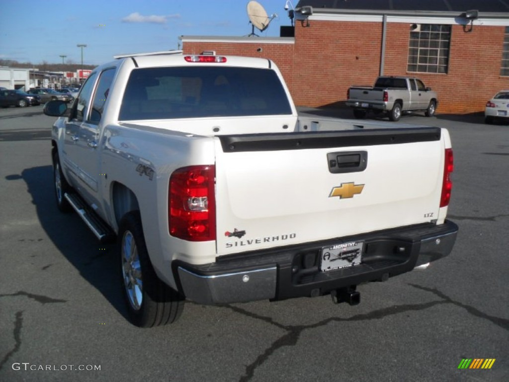 2012 Silverado 1500 LTZ Crew Cab 4x4 - White Diamond Tricoat / Light Cashmere/Dark Cashmere photo #3
