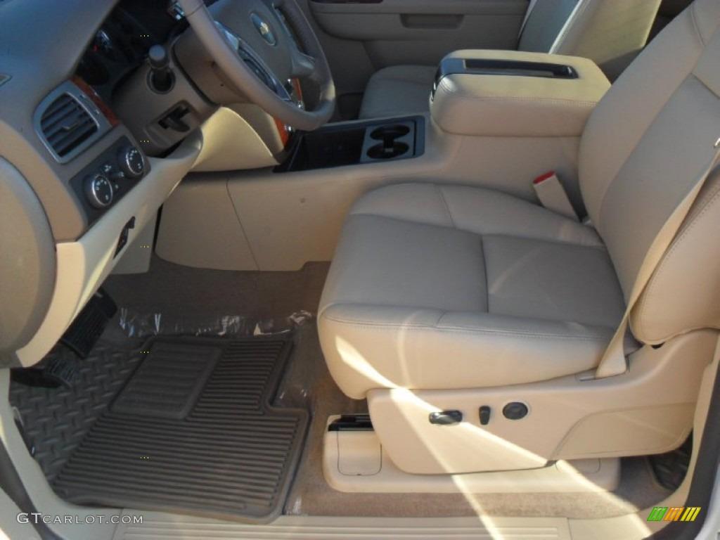 2012 Silverado 1500 LTZ Crew Cab 4x4 - White Diamond Tricoat / Light Cashmere/Dark Cashmere photo #7