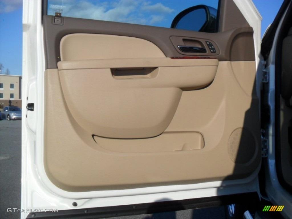 2012 Silverado 1500 LTZ Crew Cab 4x4 - White Diamond Tricoat / Light Cashmere/Dark Cashmere photo #9