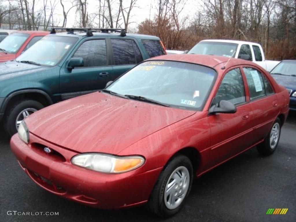 1999 toreador red metallic ford escort se sedan 59528968 gtcarlot com car color galleries gtcarlot com