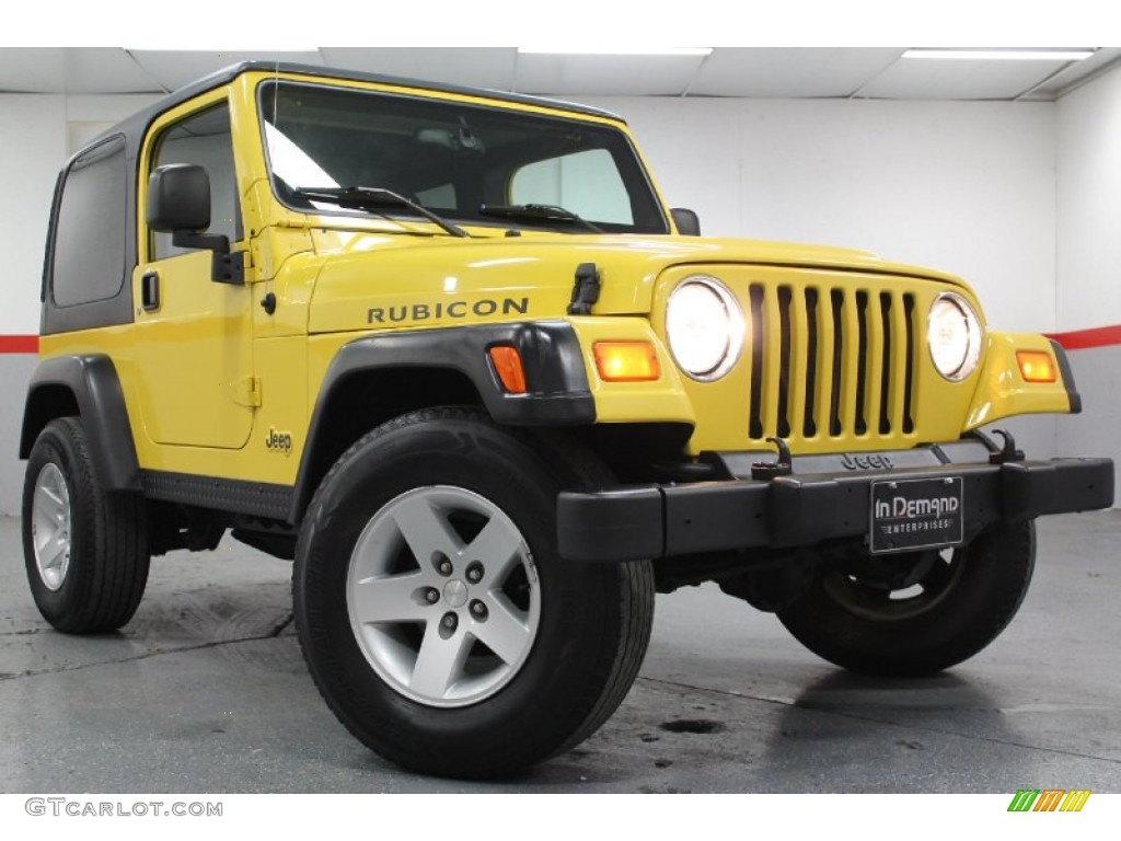 solar yellow 2004 jeep wrangler rubicon 4x4 exterior photo. Black Bedroom Furniture Sets. Home Design Ideas