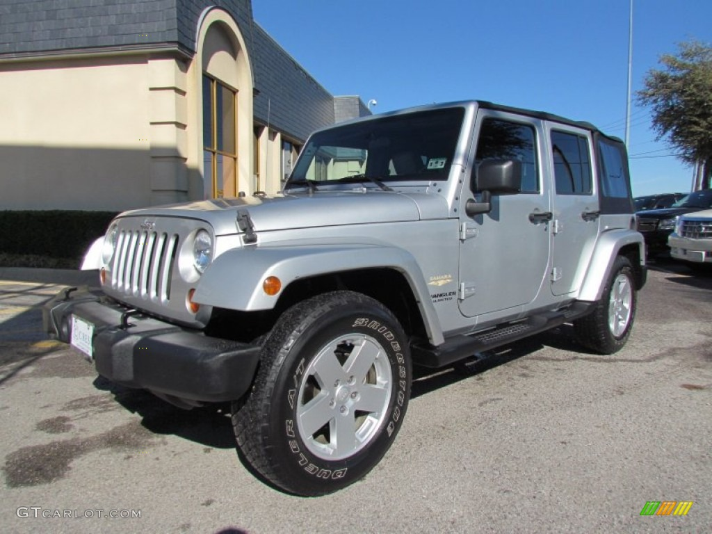 bright silver metallic 2007 jeep wrangler unlimited sahara exterior photo 59582505. Black Bedroom Furniture Sets. Home Design Ideas