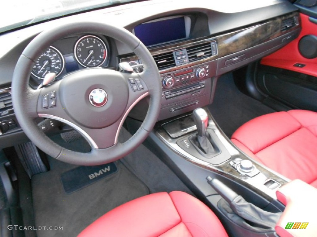 Coral Red Black Dakota Leather Interior 2009 Bmw 3 Series 328i Convertible Photo 59585299
