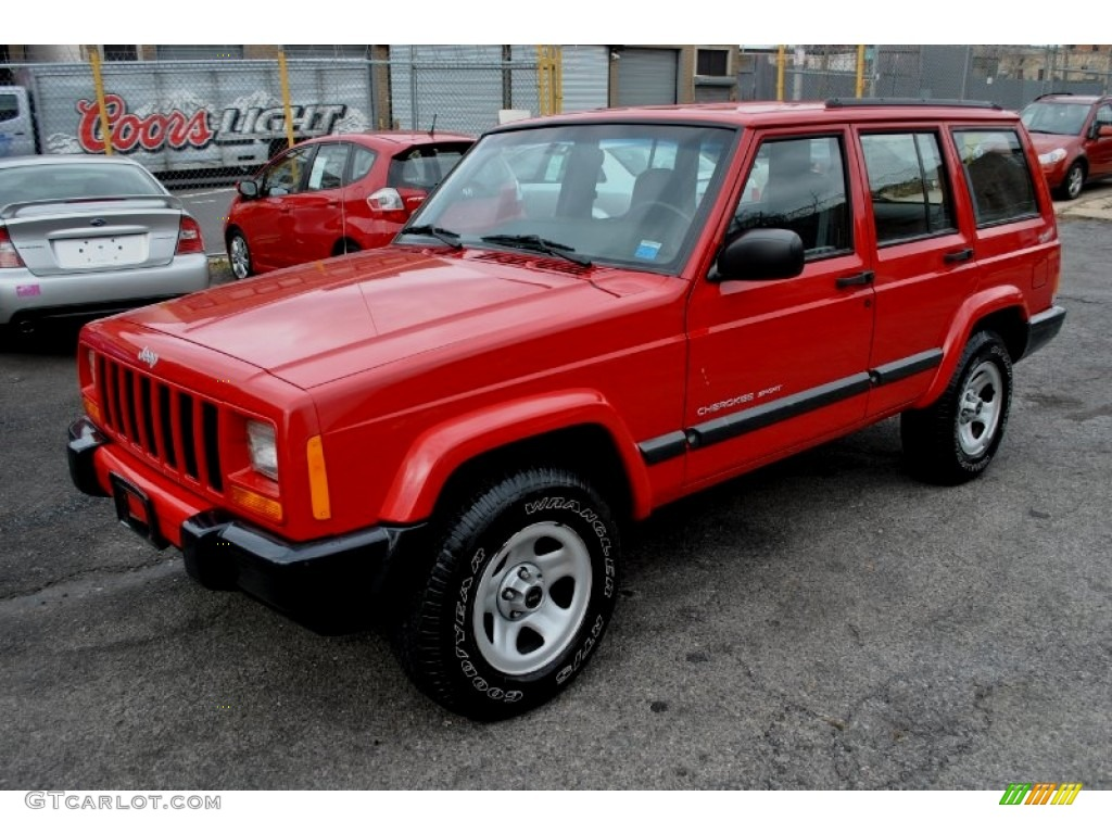 Flame Red 2001 Jeep Cherokee Sport 4x4 Exterior Photo