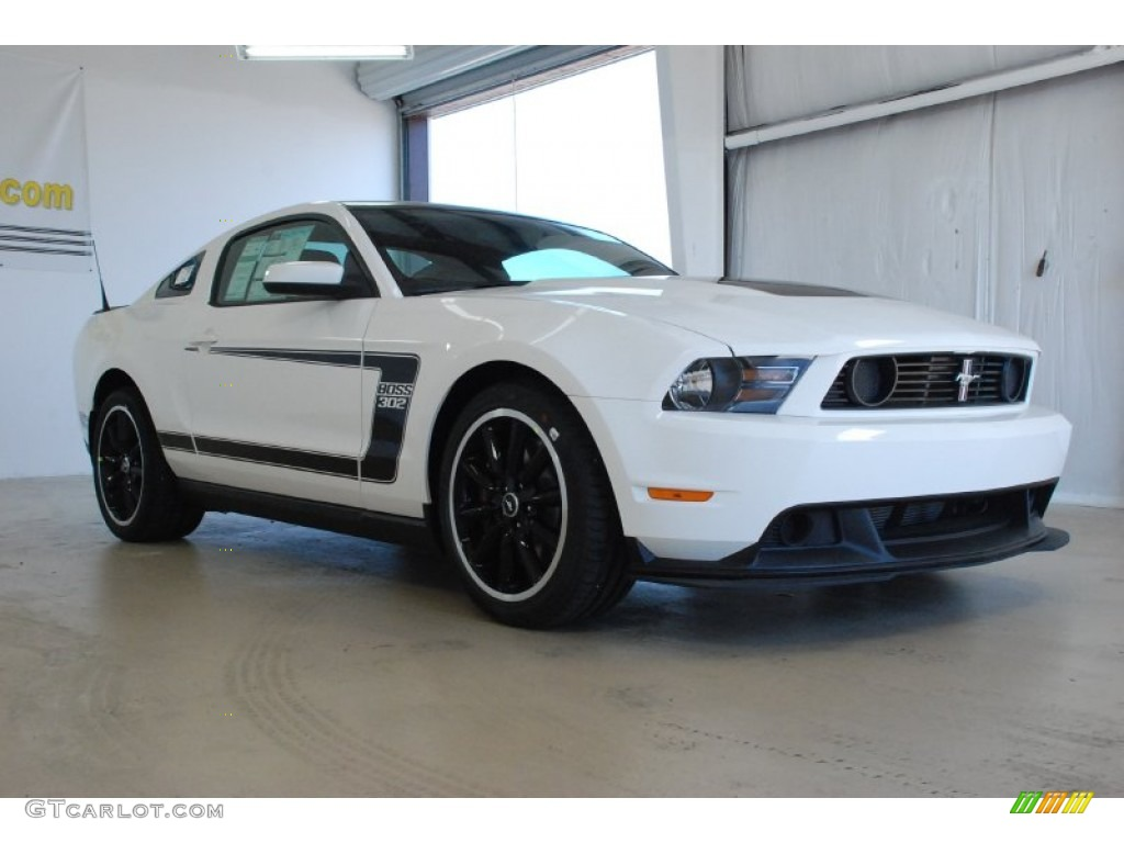 Performance White 2012 Ford Mustang Boss 302 Exterior