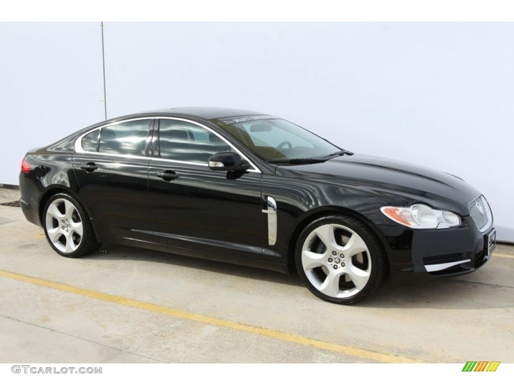 ebony black 2009 jaguar xf supercharged exterior photo 59605212. Black Bedroom Furniture Sets. Home Design Ideas