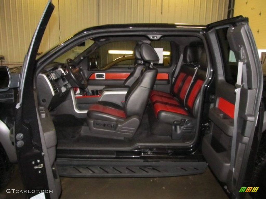 raptor blackorange interior 2010 ford f150 svt raptor supercab 4x4 photo 59607771