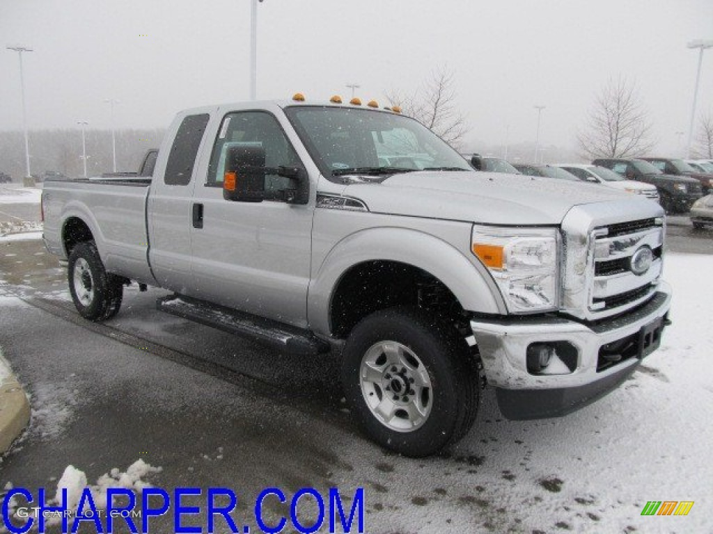 2012 F250 Super Duty XLT SuperCab 4x4 - Ingot Silver Metallic / Steel photo #1