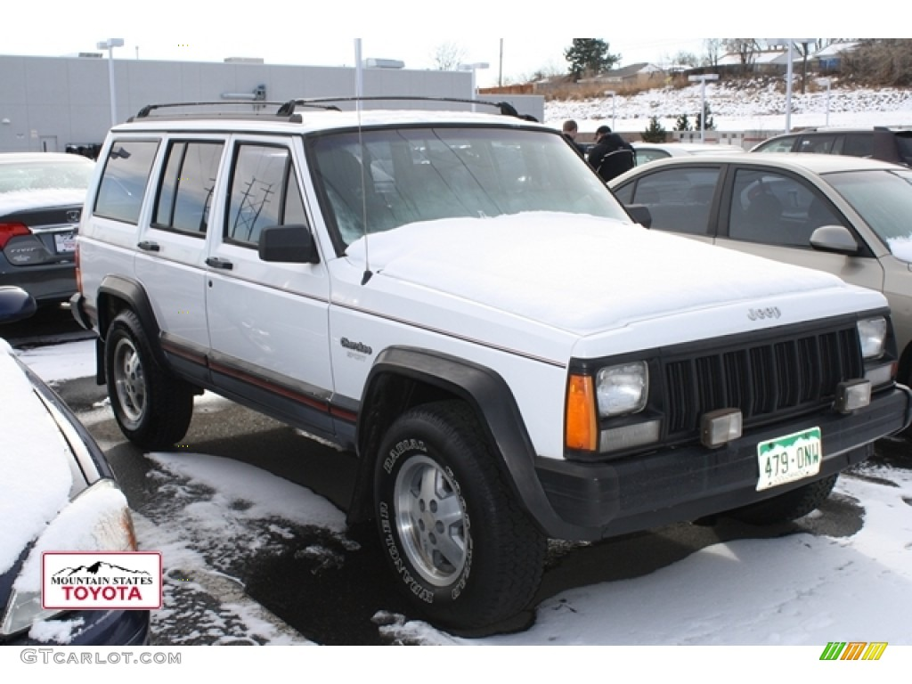 1995 stone white jeep cherokee sport 59583394 car color galleries. Black Bedroom Furniture Sets. Home Design Ideas