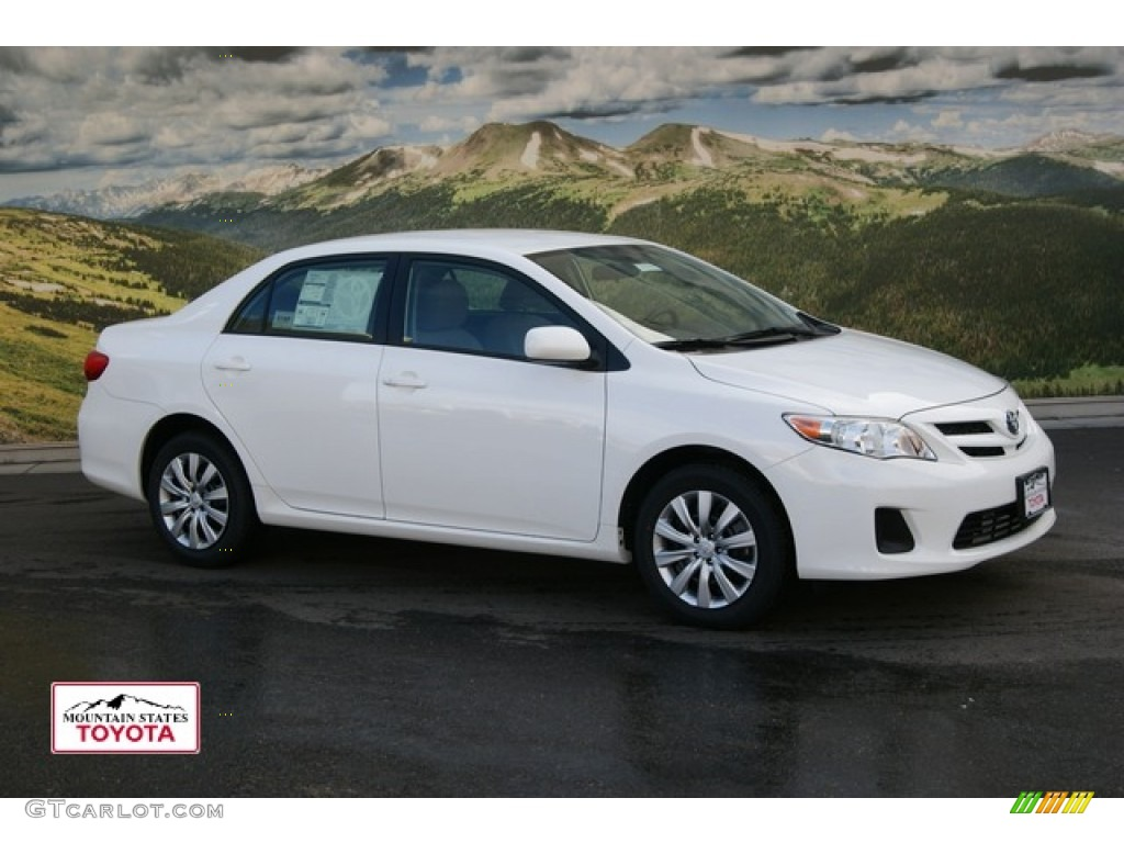 2012 Corolla LE   Super White / Ash Photo #1
