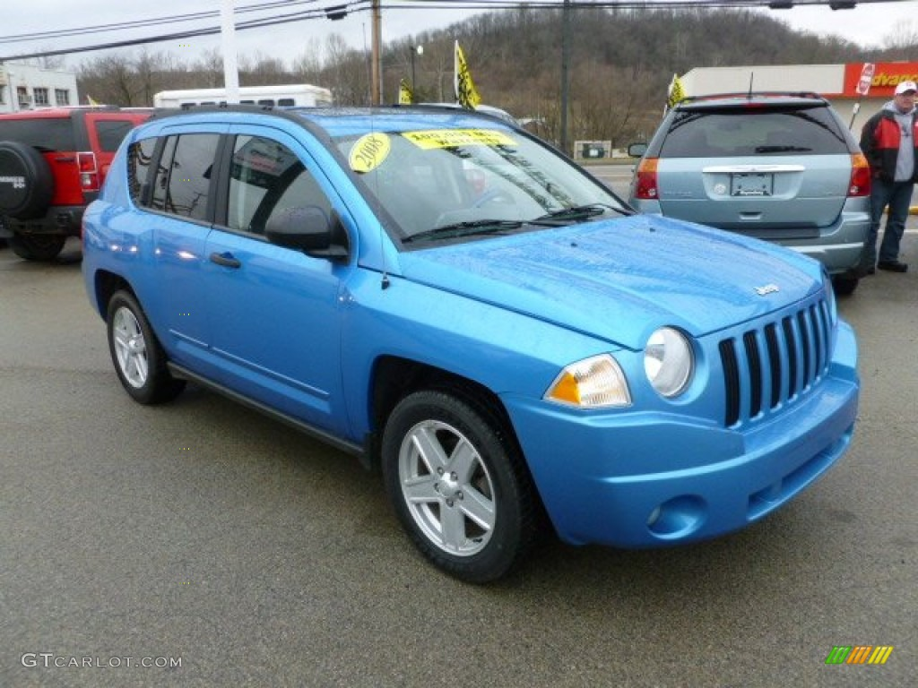 surf blue pearl 2008 jeep compass sport 4x4 exterior photo 59618652. Black Bedroom Furniture Sets. Home Design Ideas