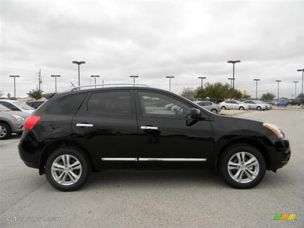 Marvelous Super Black 2012 Nissan Rogue SV Exterior Photo #59620290