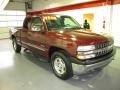 2000 Dark Carmine Red Metallic Chevrolet Silverado 1500 LS Extended Cab 4x4  photo #5