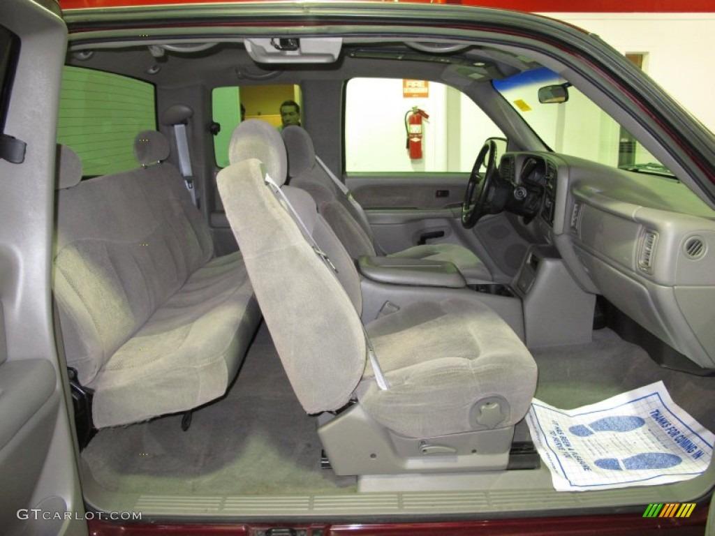 Medium Gray Interior 2000 Chevrolet Silverado 1500 Ls Extended Cab 4x4 Photo 59622591