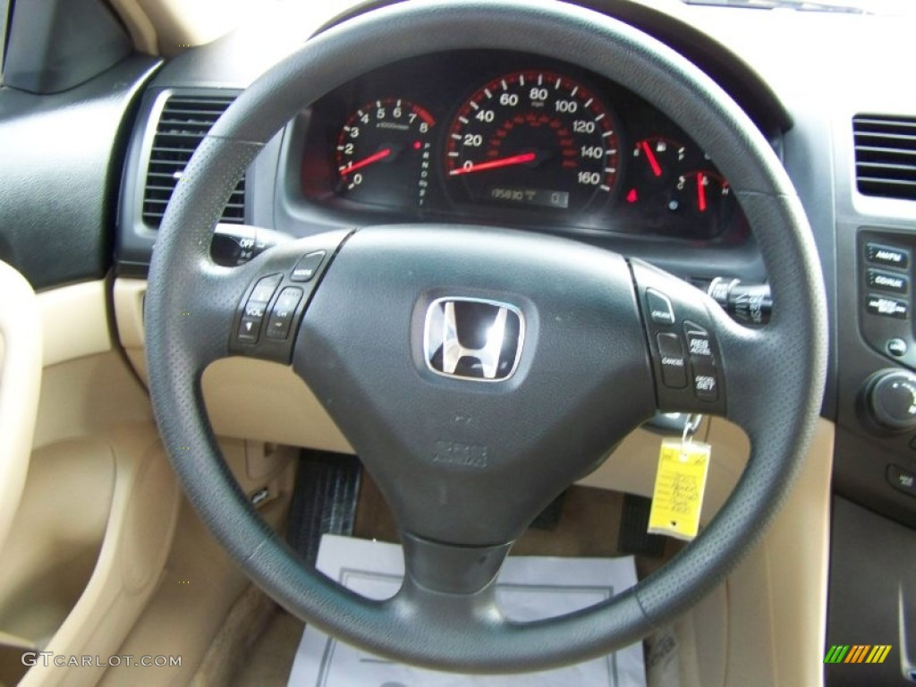 2003 Honda Accord Lx V6 Sedan Ivory Steering Wheel Photo