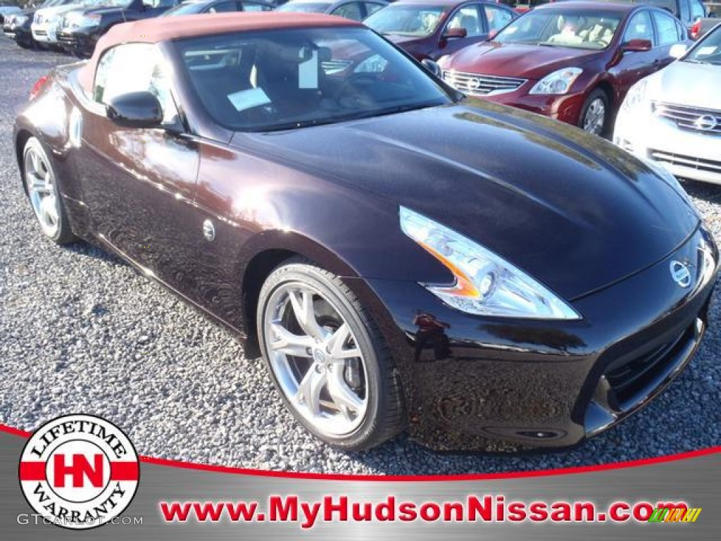 2012 370Z Touring Roadster - Black Cherry / Wine Red photo #1