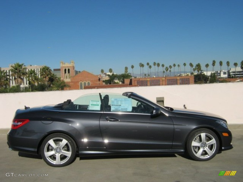 Steel grey metallic 2012 mercedes benz e 550 cabriolet for 2012 mercedes benz e350 convertible