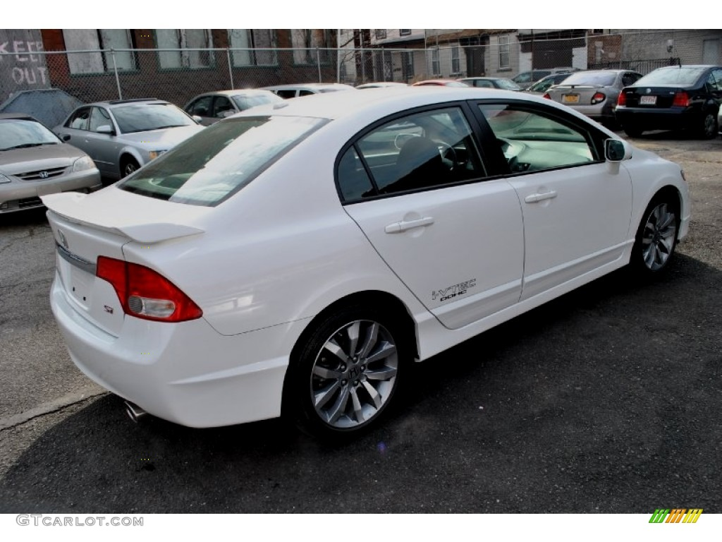 2009 Civic Si Sedan   Taffeta White / Black Photo #2