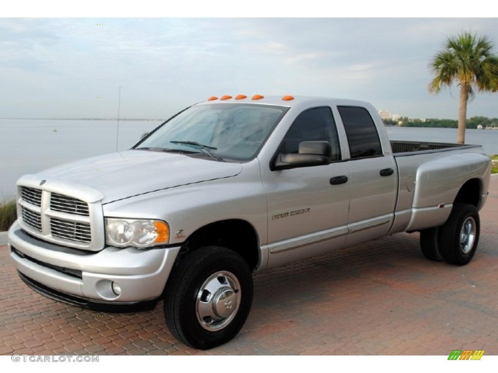 bright silver metallic 2004 dodge ram 3500 slt quad cab. Black Bedroom Furniture Sets. Home Design Ideas