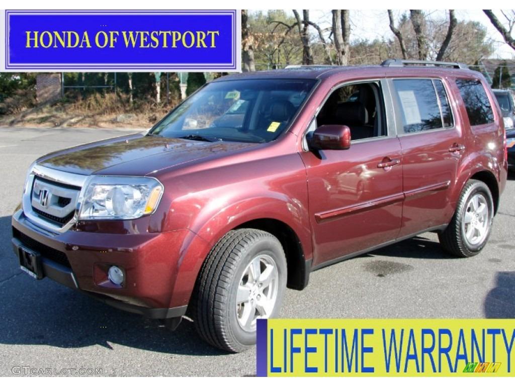 2009 Dark Cherry Pearl Honda Pilot Ex L 4wd 59639661