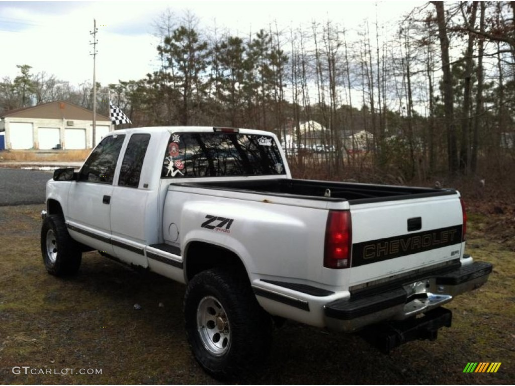 1995 C/K K1500 Silverado Z71 Extended Cab 4x4 - White / Blue photo #