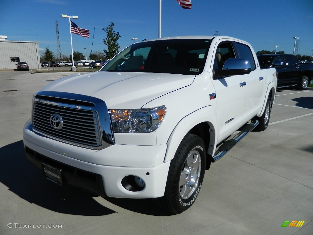 2012 super white toyota tundra limited crewmax 4x4 59669255 car color galleries. Black Bedroom Furniture Sets. Home Design Ideas