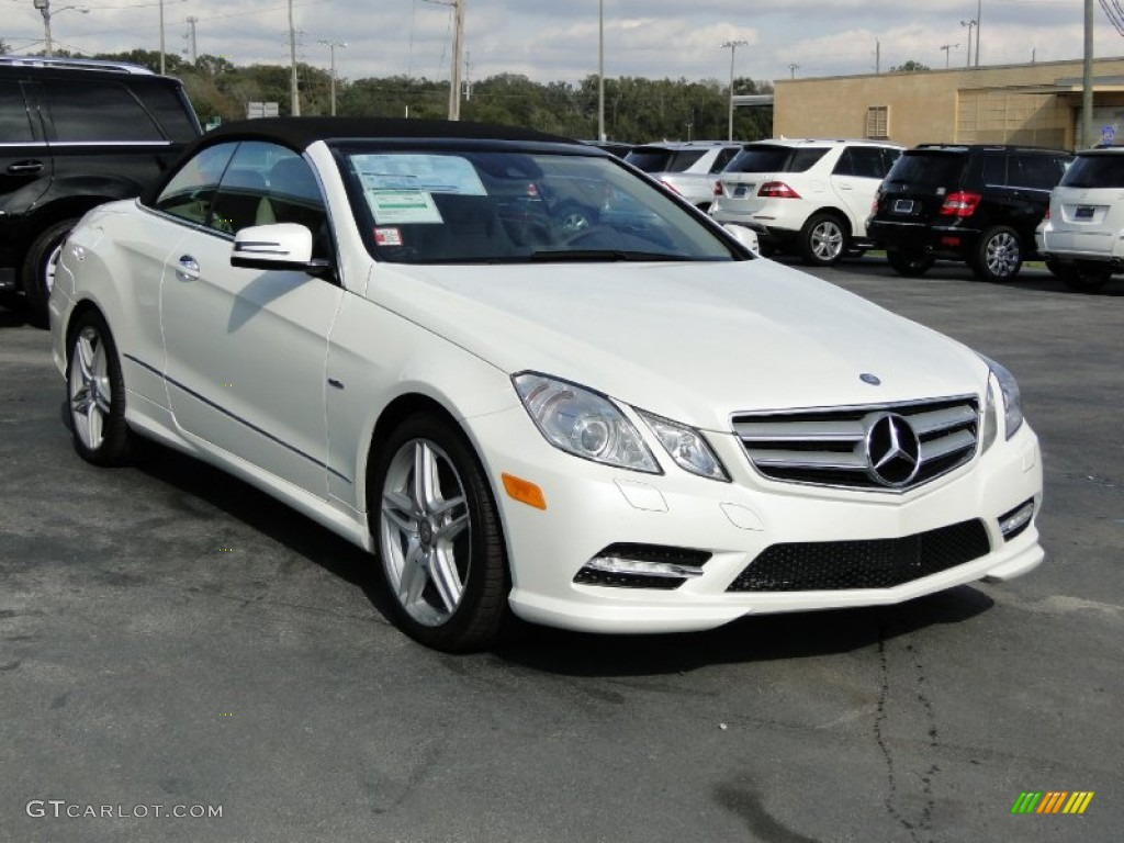 Arctic white 2012 mercedes benz e 550 cabriolet exterior for 2012 mercedes benz e350 convertible