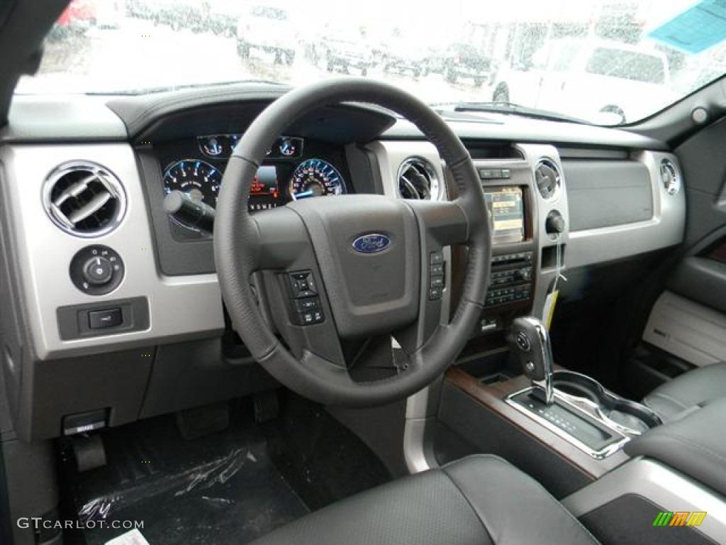 Black Interior 2012 Ford F150 Lariat Supercrew Photo 59679262