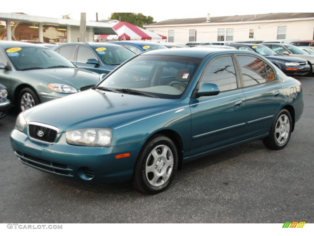 2003 ocean blue hyundai elantra gls sedan 59689381 gtcarlot com car color galleries gtcarlot com