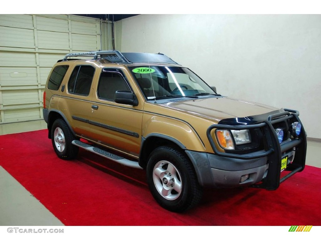 2000 gold metallic nissan xterra se v6 59689119. Black Bedroom Furniture Sets. Home Design Ideas