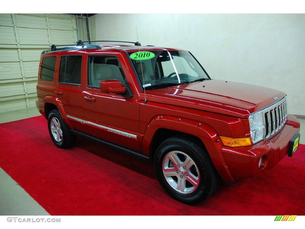2010 Inferno Red Crystal Pearl Jeep Commander Limited 4x4 59689118 Gtcarlot Com Car Color Galleries