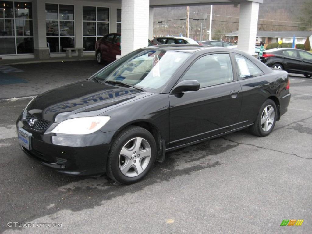 2004 nighthawk black pearl honda civic ex coupe 59689079 for Honda black car