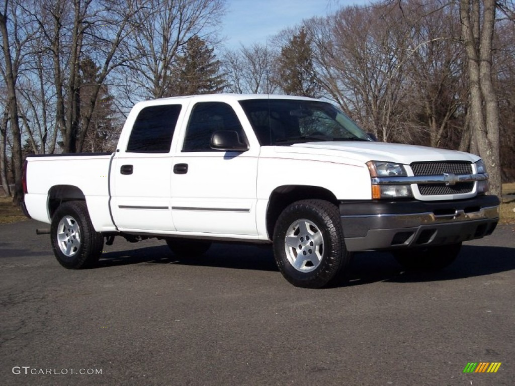 2004 summit white chevrolet silverado 1500 ls crew cab 4x4 59689328 car color. Black Bedroom Furniture Sets. Home Design Ideas