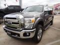2012 Sterling Grey Metallic Ford F250 Super Duty Lariat Crew Cab 4x4  photo #3