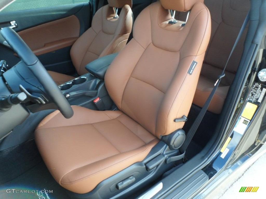 Brown Leather Interior 2012 Hyundai Genesis Coupe 3 8
