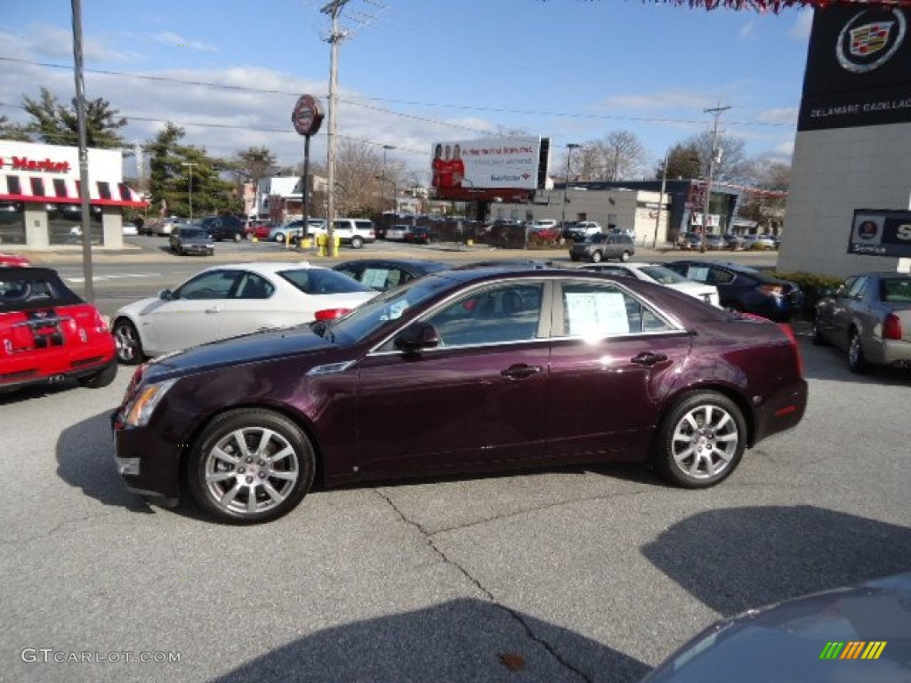 Black cherry 2008 cadillac cts 4 awd sedan exterior photo 59718366 gtcarlot com