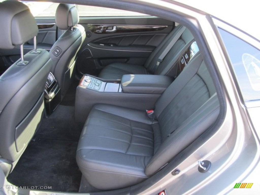 Jet Black Interior 2011 Hyundai Equus Ultimate Photo
