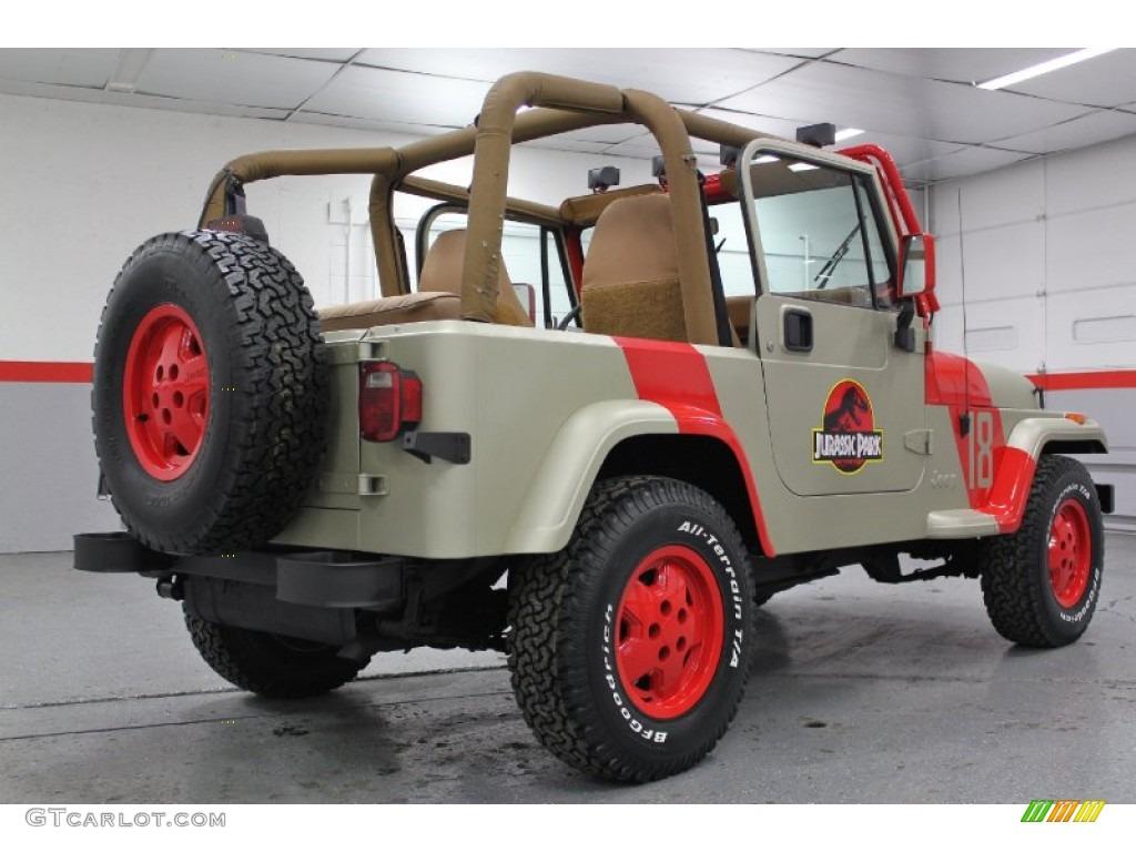 Jurassic Park Tan Red 1994 Jeep Wrangler Se 4x4 Exterior