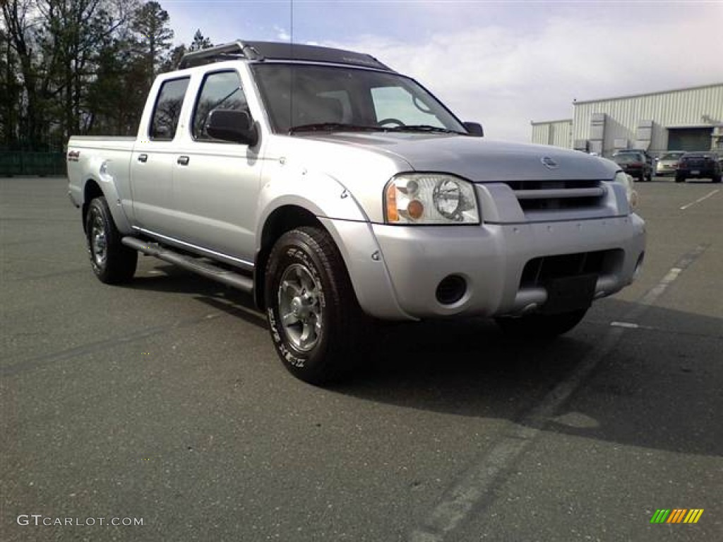 2003 silver ice metallic nissan frontier xe v6 crew cab. Black Bedroom Furniture Sets. Home Design Ideas